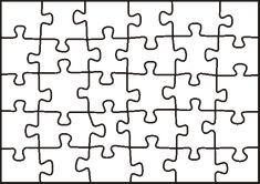 puzzle template -students create a piece to be all joined together later