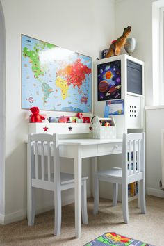 A Blue, White And Grey Childrenu0027s Playroom