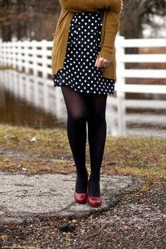 red + mustard + polka dots by kim sayre