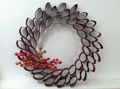 Toilet Paper Roll Wreath Craft Toilet Paper Roll Wreath Craft Bonnin Designs The Inspiration Is In Your Bathroom Holiday Wreath Toilet Paper Roll Art, Toilet Paper Roll Crafts, Diy Paper, Wreath Crafts, Diy Wreath, Christmas Crafts, Wreath Ideas, Christmas Ornaments, Holiday Wreaths