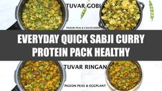 In this episode, I am sharing tow quick easy protein pack sabji/curry Tuvar Gobi (Pigeon Peas with Cauliflower) Tuvar Ringan (Peon Peas with Eggplant) - More. Pressure Cooker Recipes, Pressure Cooking, Gujarati Cuisine, Pigeon Peas, Protein Pack, Vegetable Dishes, Health Diet, Eggplant, Food Videos