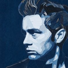 James Dean  Amazing pictures made with denim Denim jeans art - Ian Berry - Denimu