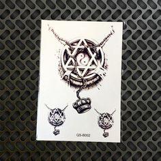 1PC Large 3D Black Metallic Scorpion King Temporay Tattoo Stickers Men Body Art GQS-B013 Scorpions Fake Flash Tattoo Arm Sleeve