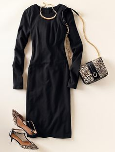 Talbots - Ponte Knit Sheath | Dresses | Apparel....Would make a great church outfit!