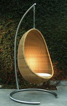 Rattan Gartenmöbel Ideen garten hängestuhl rattan gestalten