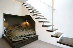 Like the wood stair concept here