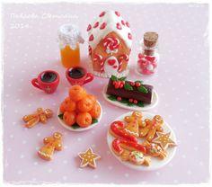 Резерв Набор миниатюрной еды и посуды Рождество от Pavlysha