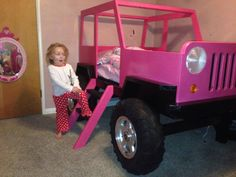 girls Jeep bed that we'd do in a different color for our grandson