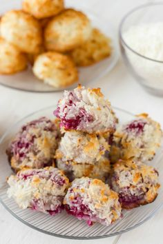 A blend of toasted coconut and fresh raspberries creates these awesome semi-toasted raspberry coconut macaroons! Great way to use up leftover egg whites.