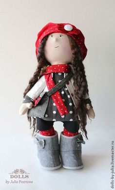 Коллекционные куклы ручной работы. Ярмарка Мастеров - ручная работа Текстильная кукла Molly. Handmade.