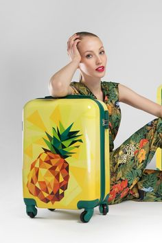 Luggage set made from a hardwearing ABS material with the additional polycarbonate coating. Crafted in captivating modern design with colourful prints of nature and wildlife, this set will meet the expectations of every savvy traveller. Designed with geometric casing, this luggage boasts a blend of summer style and creativity! | WITTCHEN #wittchen #wittchencom #luggage #suitcase #luggageset #travel #exoticdesign #absmaterial Luggage Suitcase, Luggage Sets, Office Accessories, Women Accessories, Leather Handbags, Leather Wallet, Best Wallet, Suitcases