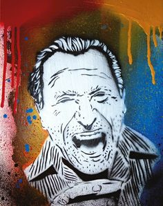 Charles Bukowski  Stencil Art on plywood   You can follow my page on facebook:   https://www.facebook.com/Sober-Guy-1746353648981266/