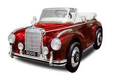 Lizenz Kinderauto Mercedes – Benz 300S 2x30W Motor Elektro Elektroauto Kinder MP3 (Metallic Rot)