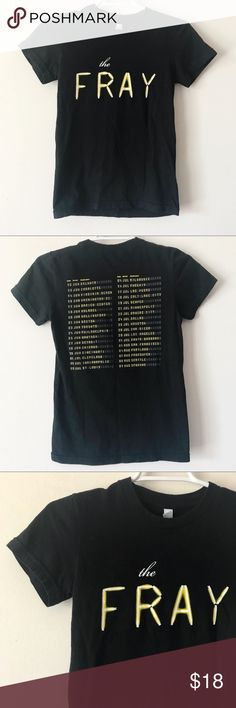 8736115be71328 The Fray Band Concert T-Shirt Black The Fray concert tour t-shirt in. The  FrayGirls ...
