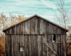 Aqua Barn Landscape Photography. Rustic Barn in Grey, Teal Sky, Country Landscape Photography, Rustic Barn Picture, Teal Barn Photography.