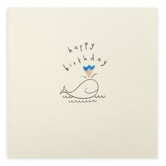 Pencil Shavings Card – Birthday Whale