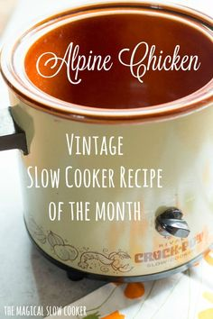 Slow Cooker Alpine Chicken Like and Repin.  Noelito Flow instagram http://www.instagram.com/noelitoflow