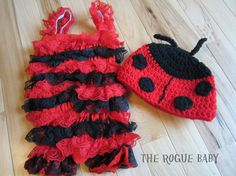 Lady Bug Photo Prop Set  Newborn Baby / Infant by TheRogueBaby, $28.00