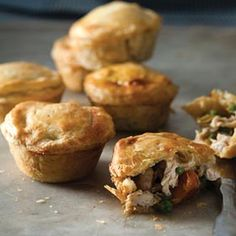 A recipe for gorgeous muffin-tray chicken pies from Jon Hey Pie Recipes, Chicken Recipes, Cooking Recipes, Recipies, Cupcake Tray, Small Chicken, Good Food, Yummy Food, South African Recipes