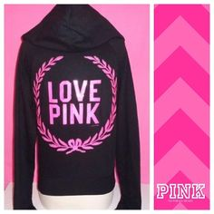 """PINK """"Love"""" Sequin Hoodie  PINK """"Love"""" pink and black sequin hoodie!   previously loved  no extreme signs of wear (no holes, stains)  all sequins still intact   pls make all offers via the offer button!  no trades, PP or Mercari  PINK Victoria's Secret Tops Sweatshirts & Hoodies"""
