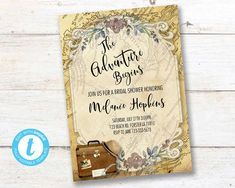 Traveling From Miss to Mrs Invitation, Traveling Bridal Shower,  Adventure Love is a Journey Instant download PRINTABLE DIGITAL DIY Travel Bridal Showers, From Miss To Mrs, Diy Shops, Party Printables, Birthday Celebration, Save Yourself, First Birthdays, Rsvp, Invitations