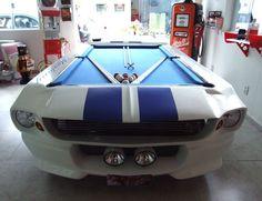 Mesa de Sinuca - Branca e Azul - R$8900