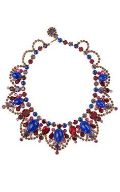08825120a Carole Tanenbaum Vintage Juliana Blue Cabochon Necklace #jewelry #necklace  #statement #stones #