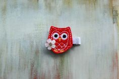 Baby / Toddler / Girl Hair Accessories Red Owl by EllieBowsnBands, $4.00,  #hairclips #owl #redowl #redhairclips #partyfavors #toddlers #babygift #hairaccessories