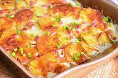 Chicken Cordon Bleu Scalloped Potatoes Recipe. from willcookforsmiles.com