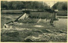 Construit en bois par l'architecte urbaniste Jean-Antoine Morand de Jouffrey, en 1774, c'est le 2e plus ancien des ponts sur le #Rhône. Il a porté plusieurs noms : pont Saint-Clair, pont Rouge ou de Bois à l'origine, pont Affranchi en 1793, pont des Victoires en 1794, puis pont Morand (attesté en 1810). Comme la quasi totalité des ponts de #Lyon, il est détruit par les bombardements allemands le 2 sept #1944. Depuis 1975, il supporte le passage de la ligne A du métro #WW2 #numelyo #2GM Sainte Claire, Rhone