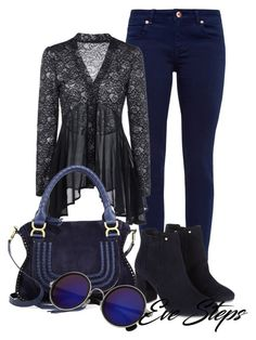 Fall outfits by evesteps on Polyvore featuring polyvore, fashion, style, Ted Baker, Monsoon, Chloé, clothing, casual, jeans, outfits, ideas and 2017