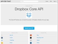 各種サービスのAPI情報をまとめた『API for that』