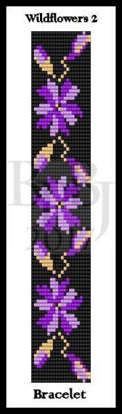 Bead Pattern - Wildflowers 2 Bracelet - Loom Stitch – Bead Patterns by Jaycee