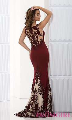 Long Embroidered Prom Dress by Jasz at PromGirl.com