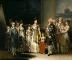 Charles IV of Spain and His Family is an oil on canvas painting by the Spanish artist Francisco Goya completed in the summer of The family is dressed in their finest clothing and jewelry. The painting is displayed at Museo del Prado in Madrid Spain. Francisco Goya Paintings, Famous Spanish Artists, Francisco Jose, Spanish Painters, Old Master, Family Portraits, Art History, Painting Prints, Artwork Paintings