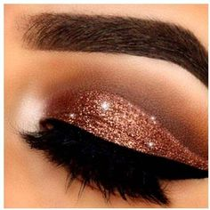 Lemonade - Glitter Eye Shadow In Sparkly Copper (8.49 CAD) ❤ liked on Polyvore featuring beauty products, makeup, eye makeup, eyeshadow, beauty and eyes
