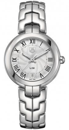 Tag Heuer Link Silver Guilloche Dial Stainless Steel Ladies Watch WAT1314.BA0956