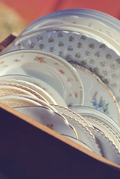Thrift your dinnerware. | 18 Ways Real People Had Their Dream Weddings For $5,000 Or Less