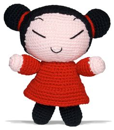 pucca crochet doll