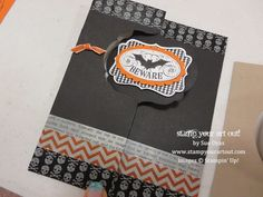 Are Amazing! Stampin' Up!® Thinlits Label Card Dies - Stamp Your Art Out!Stampin' Up!® Thinlits Label Card Dies - Stamp Your Art Out! Up Halloween, Halloween Cards, Card Making Inspiration, Making Ideas, Swing Card, Flip Cards, Pretty Cards, Stamping Up, Cool Cards