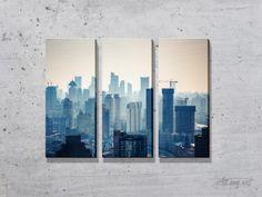 Триптихи на городскую тематику. #картина #модульнаякартина #декор #интерьер #дизайнинтерьера #уют #атмосфера