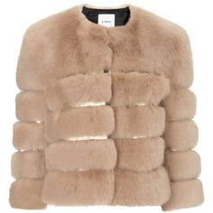 Ainea Beige Gold Faux Fur Jacket (12 470 UAH) ❤ liked on Polyvore featuring outerwear, jackets, coats, fur, beige, beige jacket, fake fur jacket, print jacket, gold cropped jacket and pattern jacket