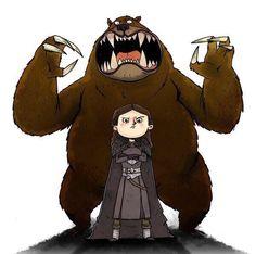 Game of Thrones Art. Lyanna Mormont aka Bear Grills Lady