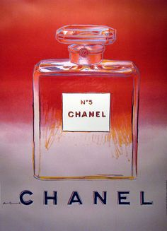 During the 1980's Andy created a series of screen prints called Avs which included exquisite portraits of colorful Chanel No. 5 bottles. They were included in an edition of 190 and at the time fetched between $25,000 and $100,000. Chanel liked what he did and asked him to create something similar to put on the street for their next campaign. However, due to his sad and sudden death in 1987 the posters were not released until 1997 with authorization from the Warhol foundation. #chanel…