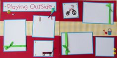 PLAYING OUTSIDE 12x12 Premade Scrapbook Pages  by JourneysOfJoy, $15.00