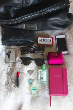 What's in my bag? via @BaubleBar @Nicole, Frankie Hearts Fashion