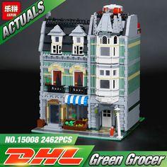 Lepin 15008 2462 Pcs Ville Rue Vert Épicier Modèle Kits de Construction Blocs Briques Compatible jouets Éducatifs 10185
