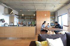 閉鎖的だったキッチンをオープンにし、LDKをひとつながりの空間に。