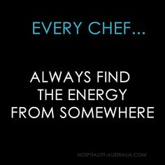 Hospitality Australia: chef's energy