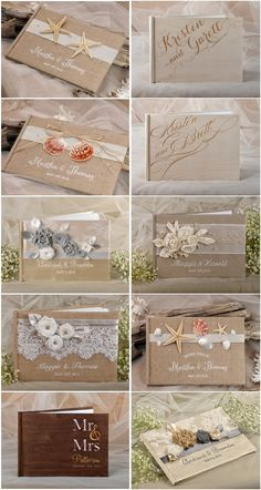 Rustic country burlap wedding guest books #countrywedding #rusticwedding #dpf
